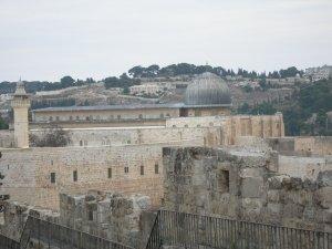 La moschea di Al-Aqsa e il monte degli Ulivi